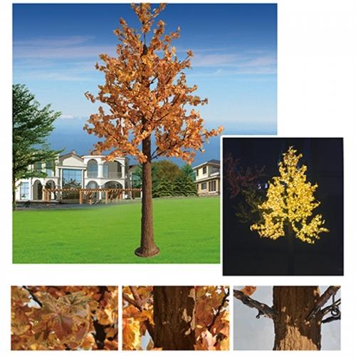 发光树灯可以有效避免风力和水流的侵害