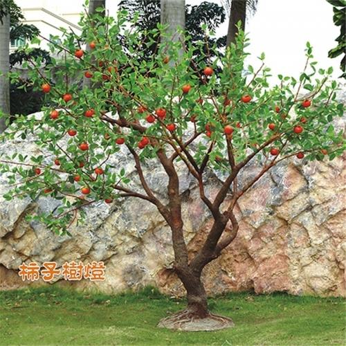 发光树灯中的棕树有什么特点